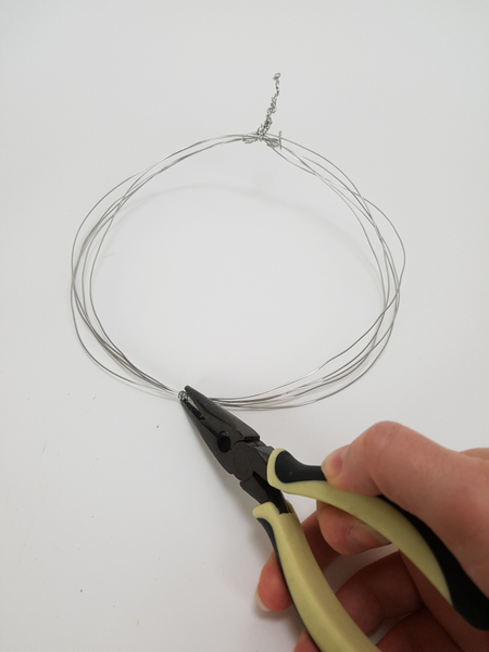Connect all the wires on the other side in the middle of the circle