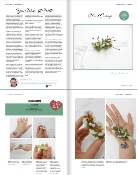 Thank you DIY Weddings Magazine for inviting me to contribute.