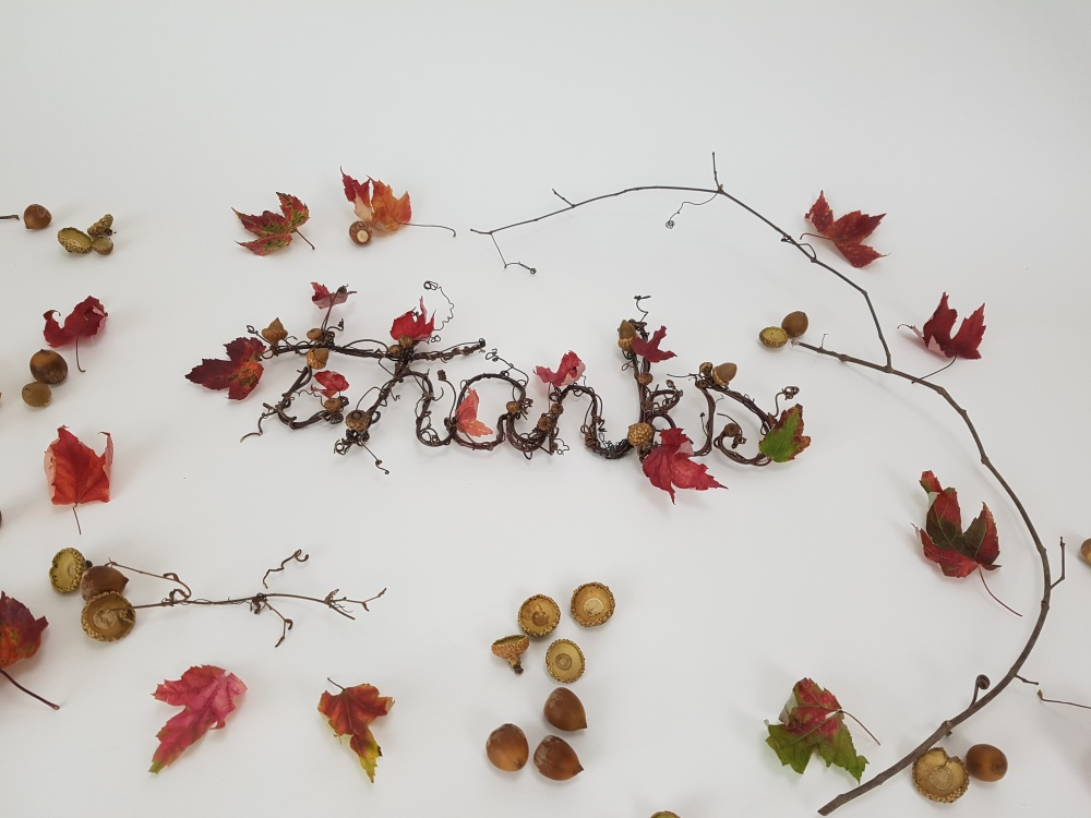 Autumn themed thank you