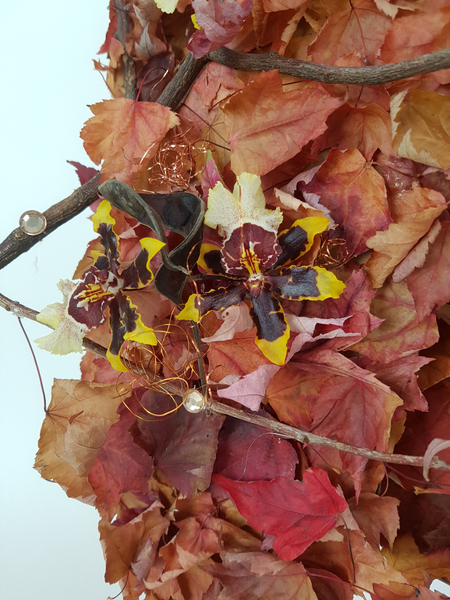 Oncidium orchid Fall leaf design