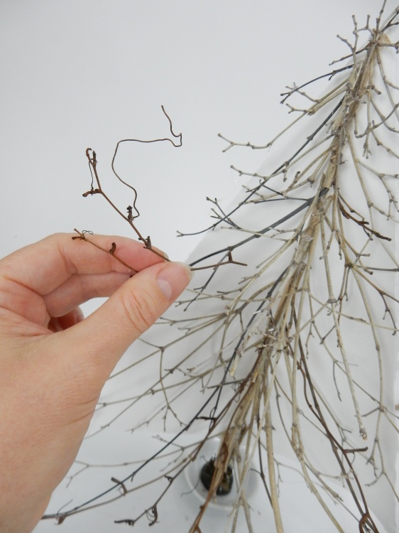Add a few vine tendrils between the twigs