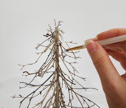 Barely there twig tabletop Christmas tree