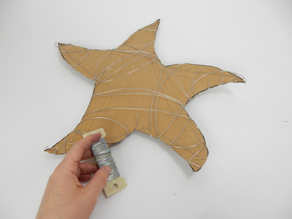 Wrap the entire star shape