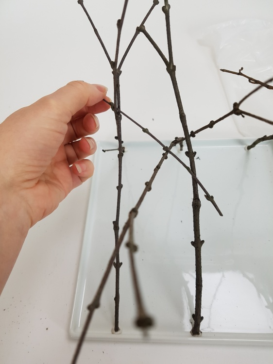 Add in a few cross twigs to connect the legs