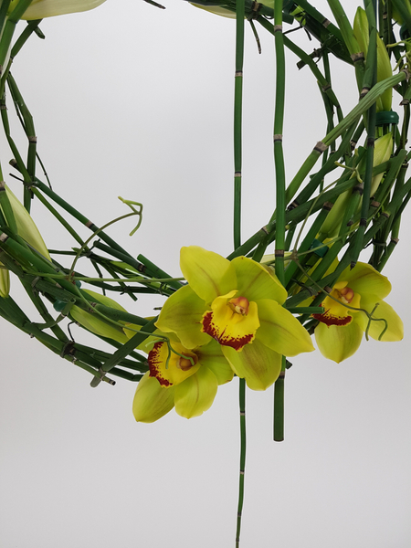 Lily, Cymbidium and Equietum wreath