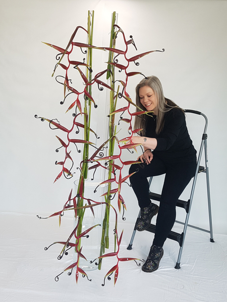 Photo shoot for the cover of my book the effortless floral craftsman