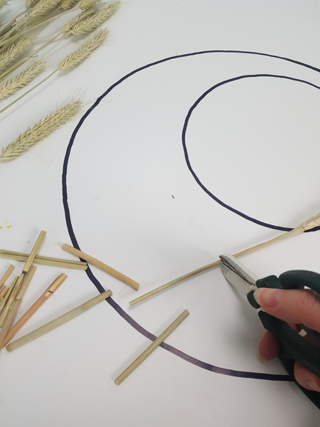 Craft the first layer of the armature from sturdy dried grass
