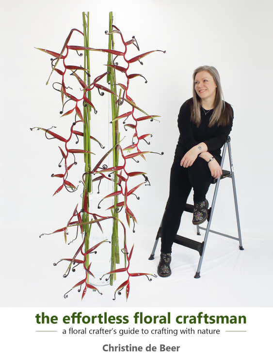 Front cover of Christine de Beer's book the effortless floral craftsman