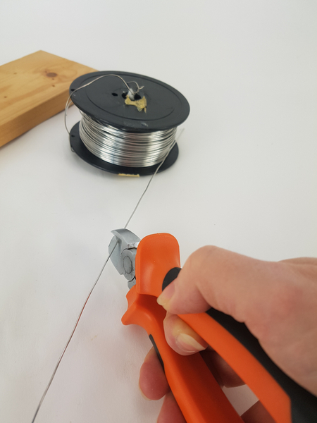 Cut wire at a sharp angle