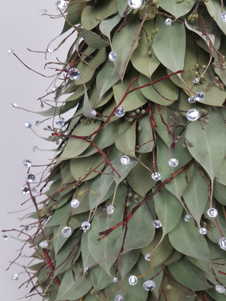 Eucalyptus leaf Christmas tree