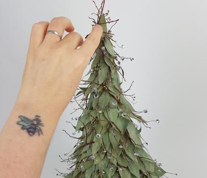 Sparkling Eucalyptus Tabletop Christmas tree