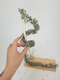 Eucalyptus tinsel garland