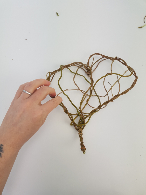 Craft the heart flat on a working surface so that it remains neatly shaped