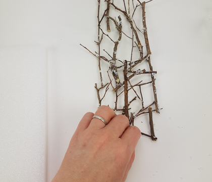 Winter White Twig Screen