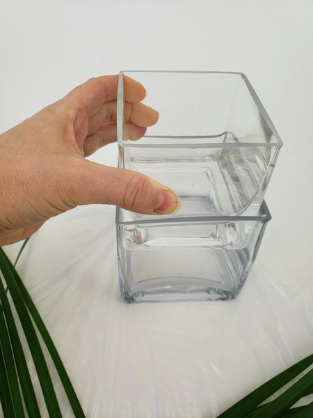 For my design I am using two glass containers
