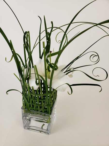 Lily and lily grass floral design