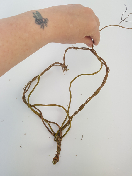 Weave in more stems to colour in the heart shape