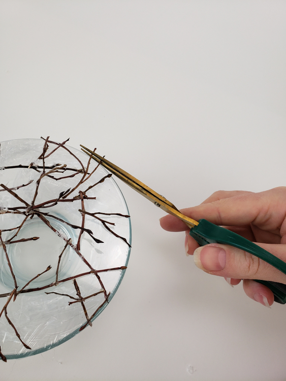 Snip away any twigs that are too long