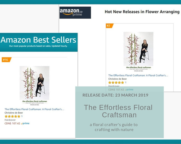 The effortless floral craftsman book release ratings on Amazon