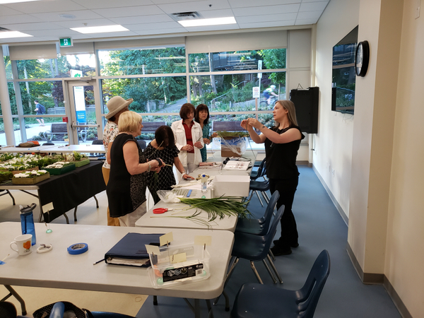 Learning how to design with flowers in Vancouver