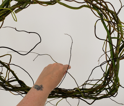 Weave a burst of overgrown wildness wreath