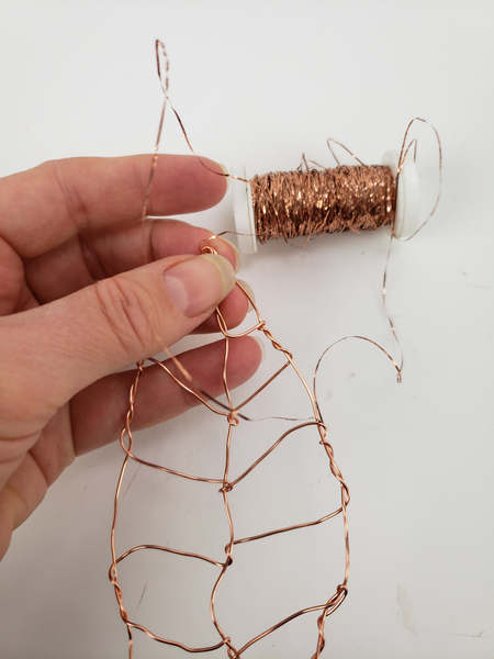 For my leaf I re-purposed copper wire
