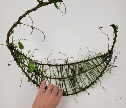 Not quite a wreath, not quite a basket armature