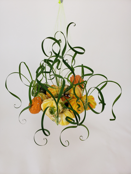 As pumpkins do this time of year floral art design