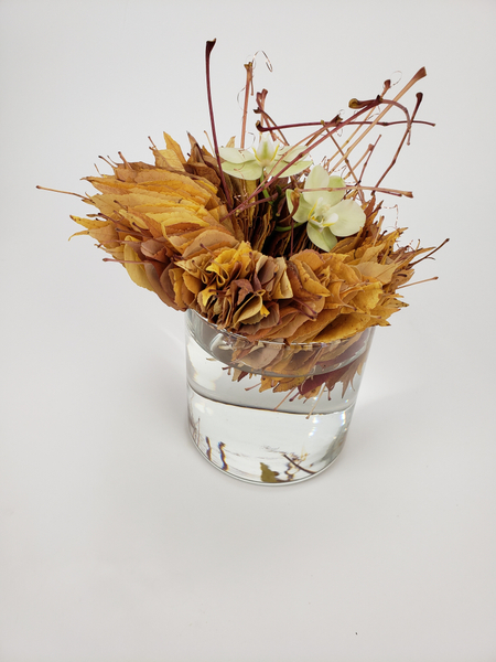 Autumn leaf Fall craft flower arrangement