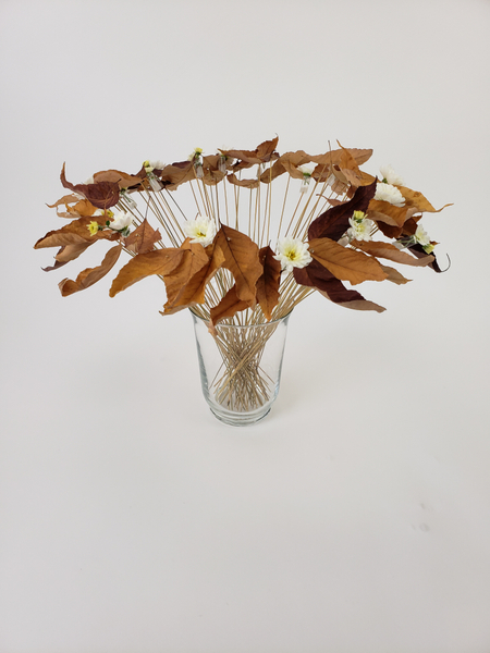 Dance lessons from the Autumn leaves floral art design