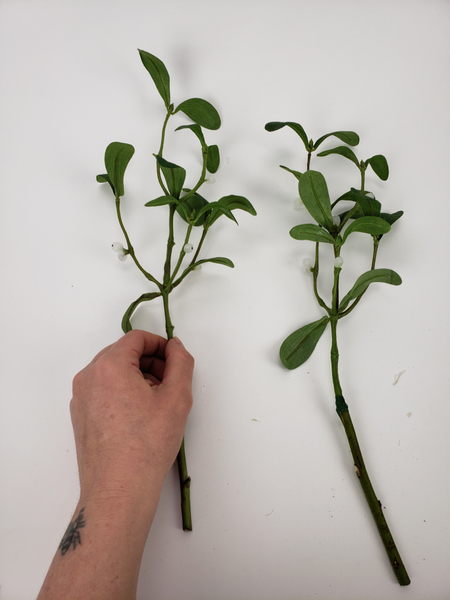 Even identical stems can each get their own personality by curving them this way