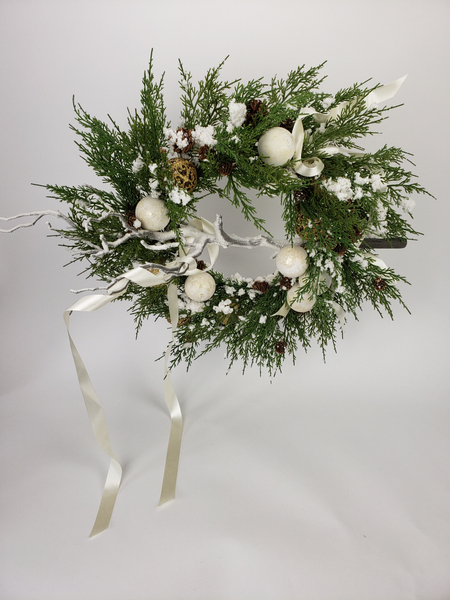 How to give a shop bought artificial wreath a high end designer look