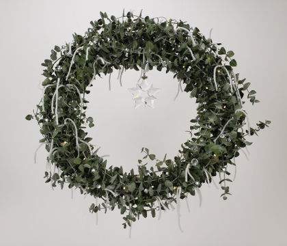 A Happy, Merry, Jolly  (easy as that!) Eucalyptus Christmas wreath