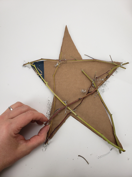 Fill in the star shape with twigs.