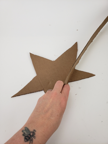 Glue the strip around the outer edge of one of the stars