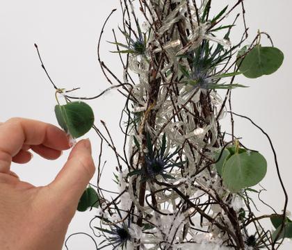 Swirly Twirly Silver Dollar Eucalyptus baubles