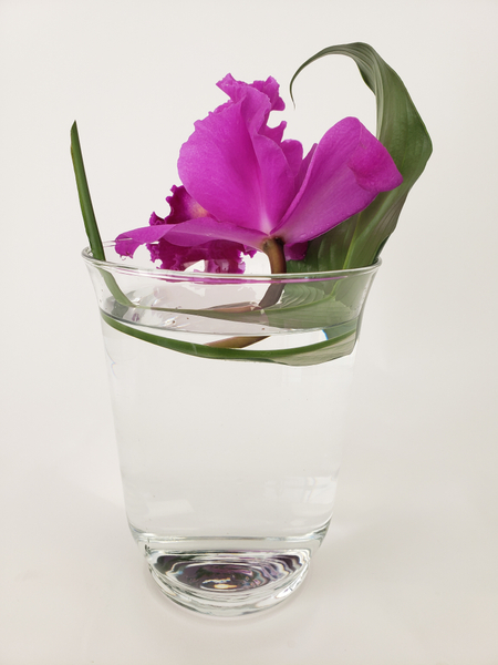 How to design with a single flower in a vase