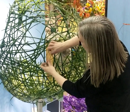 Toronto Flower Show at Canada Blooms 2020. Invitational Floral Art Class: Aerial Odyssey