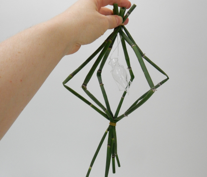 Craft a spinning diamond shape to frame your small design