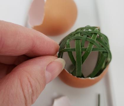 Basket weave in an eggshell