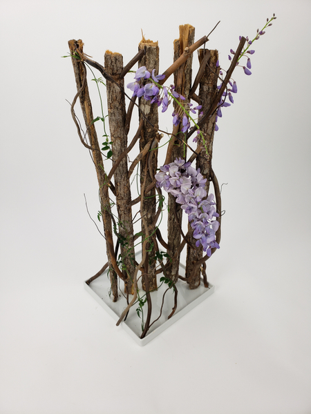 Reusable floral structure for sustainable flower arranging