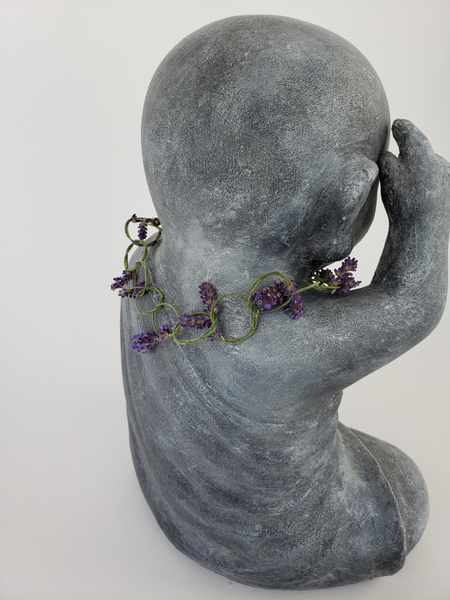 The easiest floral necklace or crown ever