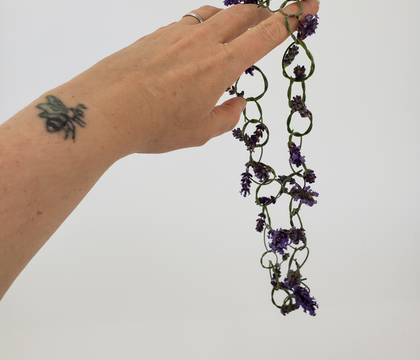 Knot a Lavender chain link necklace or floral crown