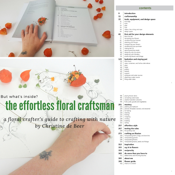 The effortless floral craftsman book contents page