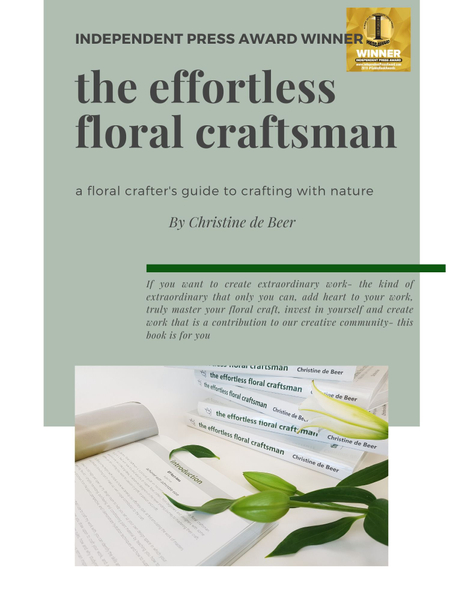 Page 11 profile of the effortless floral craftsman by Christine de Beer