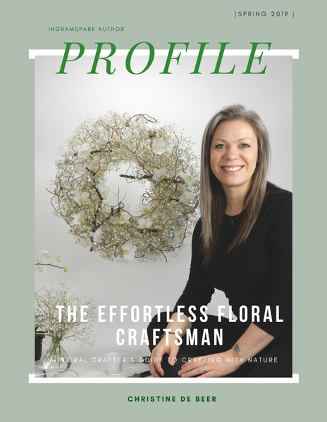 Page 3 profile of the effortless floral craftsman by Christine de Beer