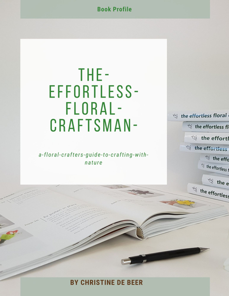 Page one profile of the effortless floral craftsman by Christine de Beer