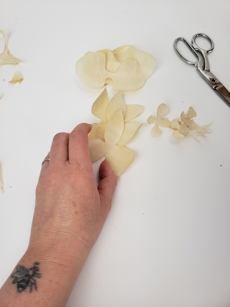 I am making three orchids for my design