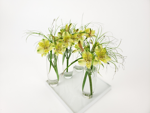 Styling flowers in a soft minimal way like a professional designer