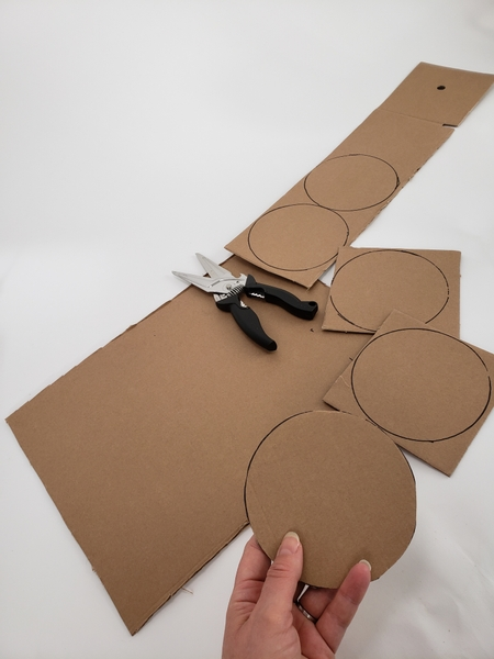 Cut out the cardboard shapes